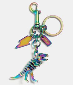 COACH BOXED ANODIZED REXY BAG CHARM