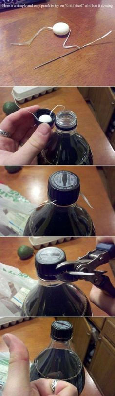 Best prank idea ever.( but how would you get the string/floss through the mentos?)