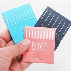 Printable Matchbook Style Needle Books // wild olive