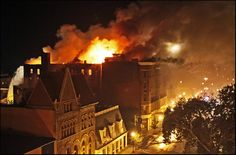 6 Sept ~ Fire destroys the historic Newcomb Hotel in Quincy Il.  This building was built back in 1888.