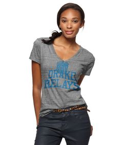 Drake University Relays V-Neck T-Shirt