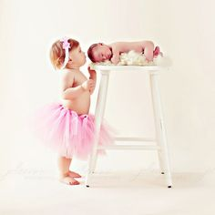 Love this pose with big sister: newborn, sibling