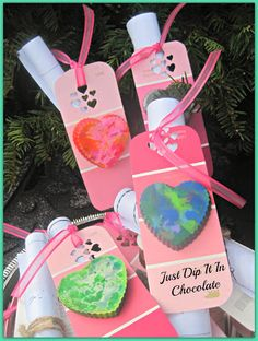 """Paint Sample Valentine Tags!..""""You Color my World!"""