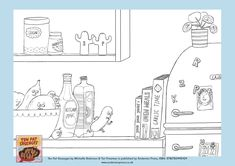 Ten Fat Sausages colouring sheet - from the book by Michelle Robinson and Tor Freeman