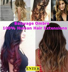 Balayage Ombre , 100% Human Hair Extensions.  www.hairfauxyou.com