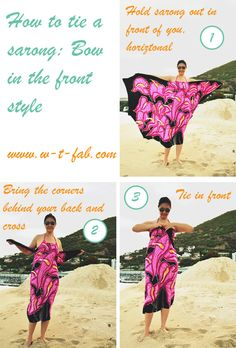 How to tie a sarong ~ Bow in the front style