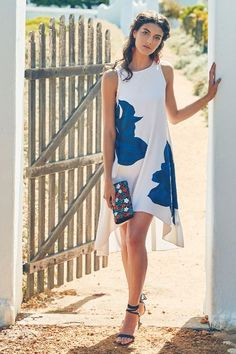 Embroidered Bluebell Dress - anthropologie.com | Now that my bluebells are over…