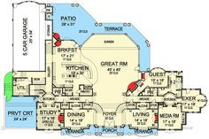 Private Balconies for All - 36147TX floor plan - Main Level