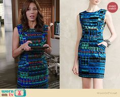 Anthropologie Tracy Reese Azurite Sheath worn by Michaela Conlin on Bones Summer Work Outfits, Nice Outfits, Modest Fashion, Women's Fashion, Fashion Outfits, Chic Dress, Dress Skirt, Michaela Conlin, Celeb Style