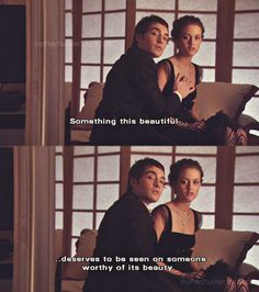 ♥ Chuck and Blair not murdering those butterflies. Gossip Girl 1x08