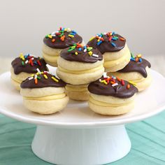 Boston cream #whoopie pies! Boston cream cakes make me think of my Momma and Grandma.... and playing bridge with them. :)