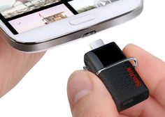 SanDisk USB 3.0 64GB Smartphone Flash Drive - Got one. Its great if you dont have a case on your phone like Otterbox Defender, Note 3 Electronics Gadgets, Gadgets And Gizmos, Technology Gadgets, Cool Gadgets, New Gadgets, Cool Technology, Latest Technology, Usb Drive, Tech Toys