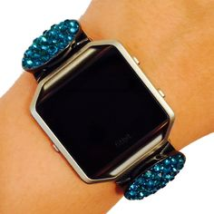 Fitbit Blaze Jewelry - Fitbit Fitness Tracker Accessory Bracelet - Simple Oval Hematite Blue Pink Rhinestone Studded PROVIDENCE Fitbit Charm Accessory (Blue). This beautiful charm is handmade to order. It is designed to be snugly secured against your fitness tracker to amplify your look! Instead of wearing a sporty and bare plastic Fitbit BLAZE band, add to your unique style with the bracelets of Weekend Wearables. This product offers the ease and capability of allowing the charm to…