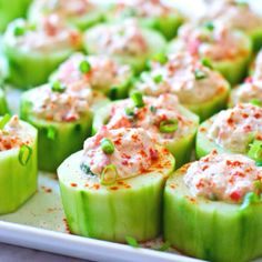 Spicy Crab Cucumber Cups, scroll down for recipe.  Makes 18-24 pieces, 1137kcal, 94g fat, 40g protein, 28g carbs total.