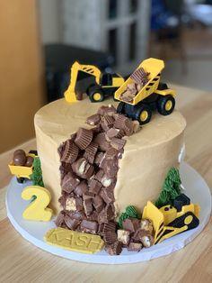 Digger, 2nd Birthday, Fondant, Construction, Cakes, Desserts, Birthday Cakes, Building, Tailgate Desserts