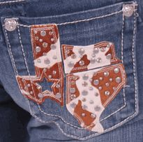 Bootcut Jean in VTG46 by Miss Me - Miss Me Jeans – Miss Me Clothing – Miss Me – TheDenimShop.com --- Obviously I am not from Texas, but these are pretty damn cute.   -- They should do some OKIE Britches!
