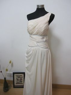 Romantic Pearl Pink Greek Style Wedding Dress by AllureBridal, $260.00