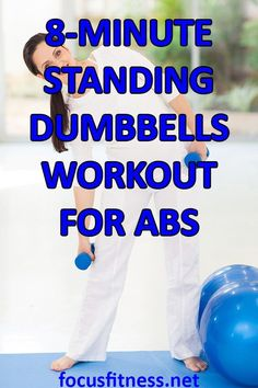The Amazing Standing Abs Workout with Dumbbells - Focus Fitness Discover the standing dumbbells workout for abs Six Pack Abs Workout, Abs Workout Routines, Dumbbell Workout, Workout Videos, At Home Workouts, Dumbbell Exercises, Workout Exercises, Fat Workout, Standing Ab Exercises