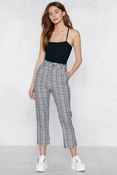 By My Side Check Pants