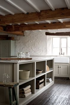 love the open feeling to this kitchen space.