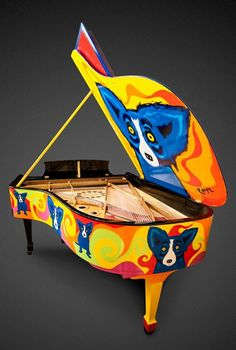 To benefit LSU's School of Music and the arts in education initiatives of the George Rodrigue Foundation of the Arts (GRFA), Louisiana artist George Rodrigue created a unique, iconic piece of art: The Rodrigue Steinway.