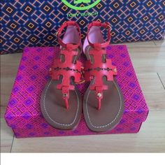 Tory Burch NIB Maasi Chandler Beautiful Chandler/Maasi Tory Burch sandals. Never been worn. Comes with box. This is the bottom price on the shoes. They were 225 new and never worn so this a great deal. Tory Burch Shoes