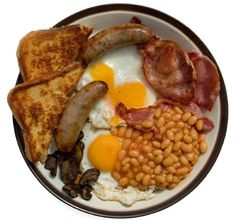 British fry up- ok not for dinner, but breakfast!