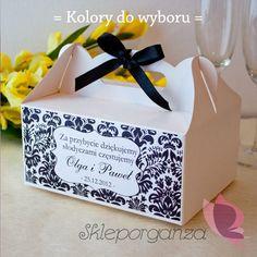 Pudełko na ciasto - personalizacja kolekcja DAMASK