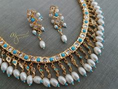 Showcasing the best of Indian jewelry designs. by AdaaJewels Pearl Necklace Designs, Jewelry Design Earrings, Gold Jewellery Design, Beaded Jewelry, Diamond Jewellery, Wedding Jewelry, Gold Jewelry, Hyderabadi Jewelry, Indian Jewelry