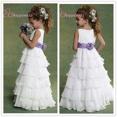 Дешевые слоистые детские ну вечеринку платье 2015 пола шифон девушки театрализованное платья для свадьбы ну вечеринку купить на AliExpress