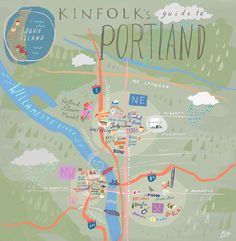 24 Hours in Portland with Kinfolk Magazine. Illustration by Libby VanderPloeg