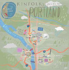 24 Hours in Portland with Kinfolk Magazine. Illustration by Libby VanderPloeg