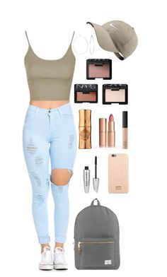 """S4 2016"" by beccagion on Polyvore featuring Topshop, Phyllis + Rosie, NARS Cosmetics, Benefit, NIKE, New Look, Dolce&Gabbana and Herschel Supply Co."