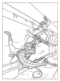 Download Spiderman Superhero Coloring Pages for Free | Birthday Idea ...