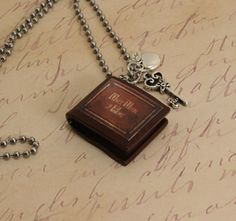 "Once Upon A Time Necklace ""Henry's Book"" Poison Apple and Queen's Keys"