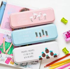 Early Summer Whisper Pencil Box Desktop Storage Box Tin Pencil Case School Office Supply Gift Stationery-in Pencil Cases from Office & School Supplies on Aliexpress.com | Alibaba Group