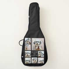 Create a Custom Photo Collage with 8 Photos Guitar Case - photography gifts diy custom unique special
