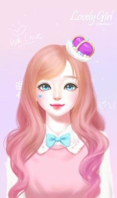 Lovely Girl uploaded by ChiangWaiFun on We Heart It Pretty Anime Girl, Anime Art Girl, Manga Girl, Korean Illustration, Illustration Girl, Alita Battle Angel Manga, Anime Korea, Doll Face Paint, Lovely Girl Image