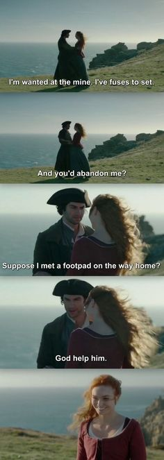 """""""I'm wanted at the mine. I've fuses to set"""" - Ross and Demelza #Poldark"""