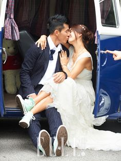 Sean, Jung Hye Young, and their babies for Elle Korea Wedding Suits, Wedding Shoot, Wedding Wear, Wedding Dresses, Romantic Photography, Wedding Photography Poses, Converse Wedding Shoes, Korean Wedding, Korean Actresses