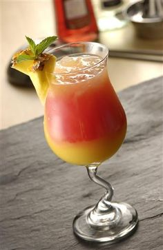 Brazilian Sunrise Cocktail Recipe @Regina Martinez Wilson (uses vanilla vodka)