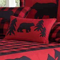 Black Bear Retreat Bear and Trees Rectangle Pillow