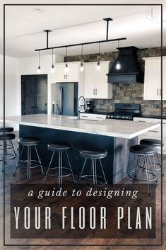 This guide will help you find your perfect floor plan for your new house. Finding Your Perfect Floor Plan for Your New House Industrial Office Design, Home Office Design, Home Interior Design, House Design, Industrial Living, Modern Industrial, Modern Farmhouse Exterior, Modern Farmhouse Decor, Modern Farmhouse Kitchens