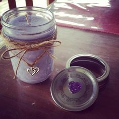 Homemade soy lavender candle. Mason jar decorating ideas. I had so much fun making my very first candle, I can't wait to make more!