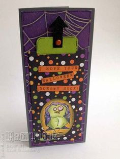 Crazy Birds - Stampers Anonymous - Slider Card Tutorial