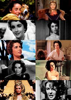 """"""" Elizabeth Taylor – 10 iconic roles (x) Priscilla (Lassie come home) / Amy (Little Women) / Katherine """"Kay"""" Banks (Father of the bride) / Angela Bickers (A place in the sun) / Leslie Benedict (Giant)..."""