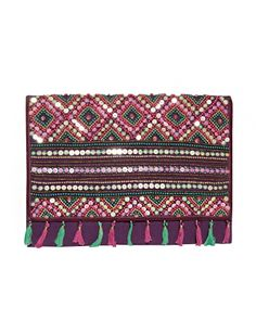Beaded Envelope Clutch - Tribal Clutch - Ethnic Clutch -$92