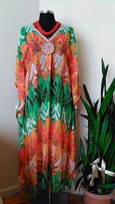 FREE FAST SHIPPINGCaftan dress     Maternity Kaftan       Multicolor printed Resortwear    Maxi Festival dress   Free Size  Mother Days Gift #handmade  #etsy
