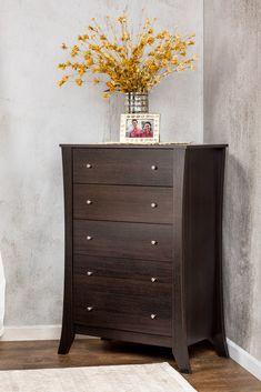 Furniture of America Oscar 5-Drawer Espresso Dresser Chest, Brown