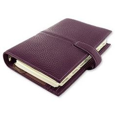 Filofax Finchley Personal Organiser Leather Personal Imperial Purple Ref 421414: Amazon.co.uk: Office Products